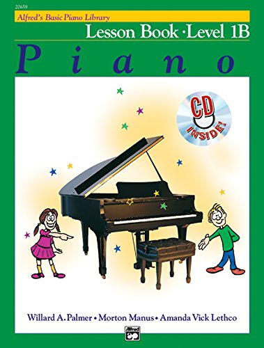 Alfred's Basic Piano Library Lesson Book, Bk 1B (Book & CD)