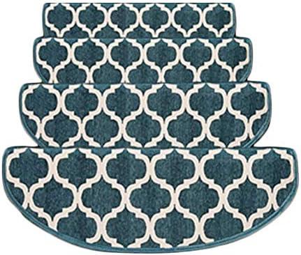 LIXIONG LIXIONG LIXIONG Addensato Corridori Tappeto Tappeto per Le Scale Set di 5 Tappetino Antiscivolo Supporto Autoadesivo, 12MM 3 Coloreei, 4 Dimensioni (Coloreee   B- Blu, Dimensioni   75x(243) cm) 22fba8