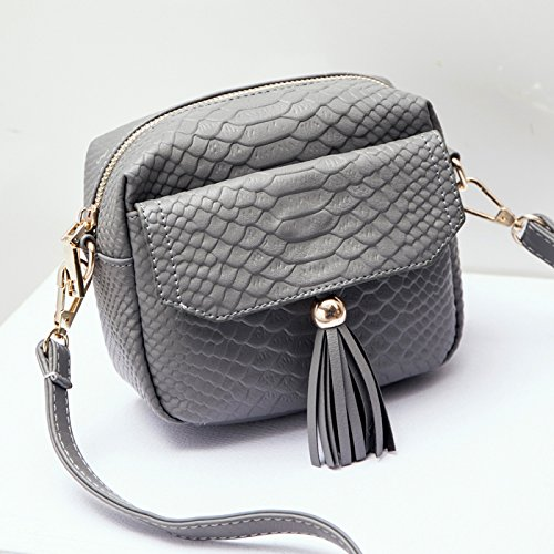 koreanische version des weiblichen paket kleinen quadratischen tasche umhängetasche beutel gray