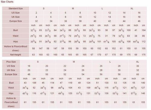 Bridal_Mall - Robe - Trapèze - Sans Manche - Femme 34 Pearl Pink