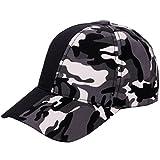 Fathoit Damen Herren Reissbares Shantou Camouflage Couture Baseball Mesh Cap Hat, Uni, D, 15x15x12cm
