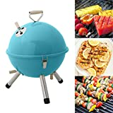 #10: Kurtzy Portable Stainless Steel Barbeque Charcoal Grill for Outdoor Garden Travel Camping (Assorted)
