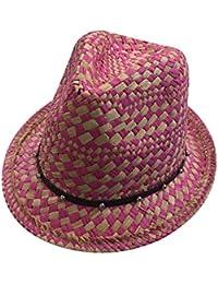 e936270a7e74e Gorros Sombrero De Paja para Mujer Sombrero con Verano De Rombos Especial  Estilo Patrón De Tela Escocesa Moda…