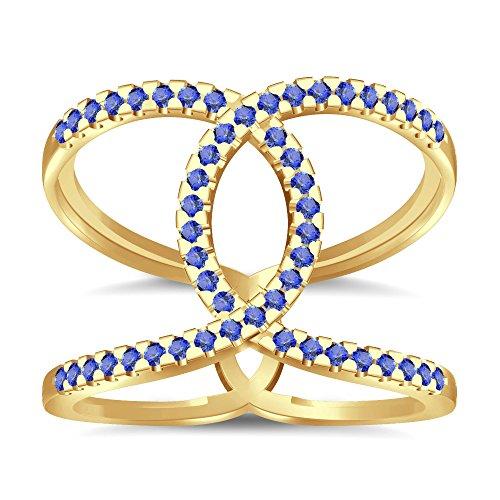 Silvernshine Halo Twist Tanzanite CZ Diamond Engagement Ring 14k Yellow Gold Plated Bridal Ring