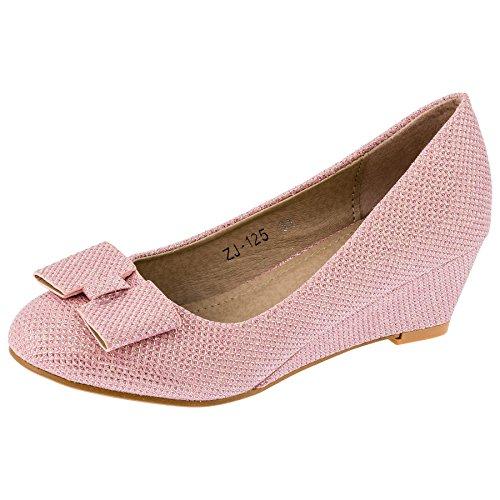 Mikelo Shoes, Scarpe col tacco bambine, rosa (#143rs Rosa), 30 EU