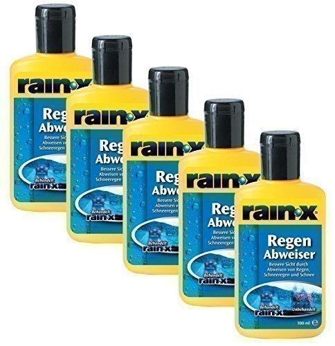 5x Rain-X Regenabweiser 200 ml Scheibenwischer Auto Scheibenreiniger