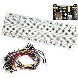 Hrph MB-102 Punto de prototipos PCB Breadboard + 65pcs cables Saltar Cable + Fuente de alimentación