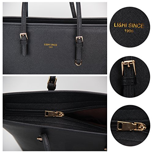 LI&HI Damen fashion elegant Leder Beutel shopper bag Umhängetaschen Schulterbeutel Abendtaschen Clutch - 5