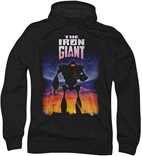 Ferro-Poster gigante-Felpa con cappuccio da uomo Nero