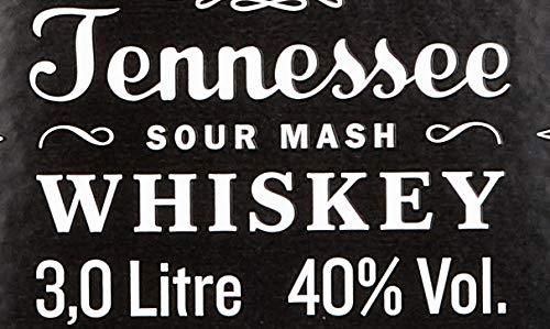 Jack Daniel's Old No.7 Tennessee Whiskey - 40% Vol. (1 x 3.0 l) / Durch Holzkohle gefiltert. Tropfen für Tropfen