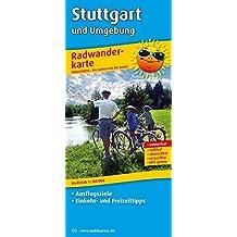 Stuttgart und Umgebung: Radwanderkarte mit Ausflugszielen, Einkehr- & Freizeittipps, wetterfest, reissfest, abwischbar, GPS-genau. 1:100000 (Radkarte / RK)