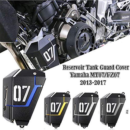 FATExpress Motorrad Kühler Wasserkühler Tankschutzhaube für 2013-2016 Yamaha FZ-07 MT-07 FZ07 MT07 FZ MT 07 2014 2015 13-16 (Titan)