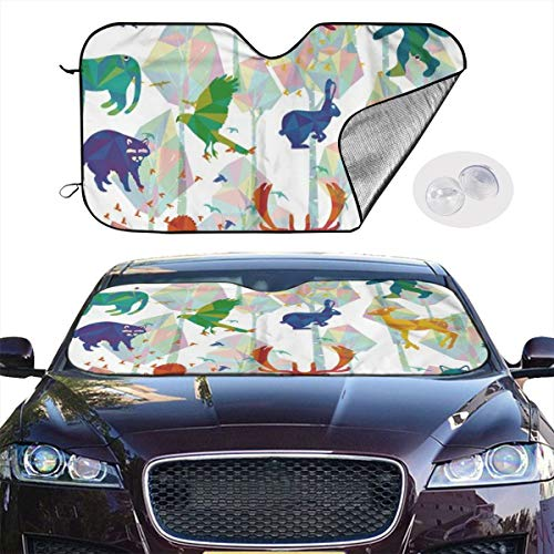 Car Windshield Sun Shade Tree Whisper Keep Your Vehicle Cool UV Sun Heat Reflector 51.2x27.5 Inchs - Whisper Cool