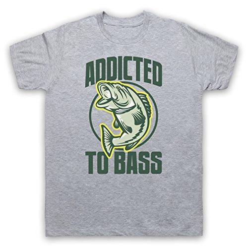 Addicted To Bass Bass Fish Herren T-Shirt Grau