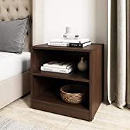 Amazon Brand - Solimo Tucana Engineered Wood Bedside Table (Walnut Durance Finish)