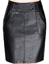32ddeae39ece Suchergebnis auf Amazon.de für: Schwarze sexy Leder - Röcke / Damen ...
