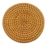 Set aus 2 Rattan-Untersetzer Pure Natural Rattan-Schalen-Matte, Natural Colour