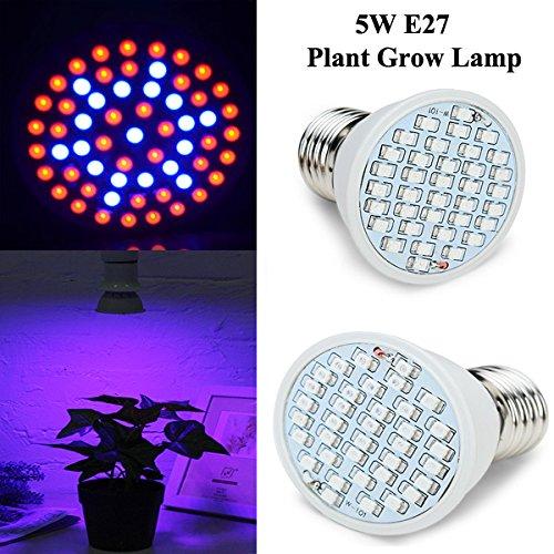 Bluelover 5W E27 Garten Pflanze Wachstum Led-Lampe Gewächshaus Pflanzen Keimling Licht