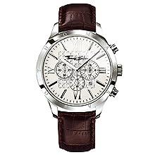 Thomas Sabo Herren Armbanduhr Chronograph Quarz Leder WA0016-212-201-43 mm