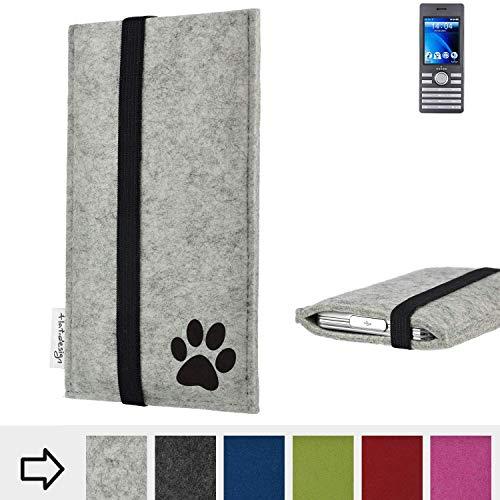 flat.design Handy Hülle Coimbra für Kazam Life B6 individualsierbare Handytasche Filz Tasche fair Hund Pfote tatze