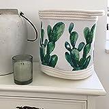 Frida's Aufbewahrungskorb CACTUS Stoff weiß-grün Dekokorb faltbar Regalkorb