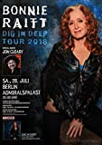 TheConcertPoster Bonnie Raitt - Dig In Deep, Berlin 2018 | Konzertplakat | Poster Original