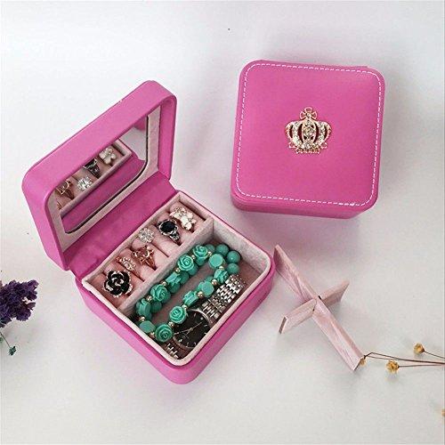 Squeeqees squisiti gioielli box portatile vanità carino orecchio anelli a vite astucci per gioielli rosso 10 * 10 * 5cm scatole di archiviazione