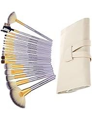 Nestling® 18PCS Kit de Pinceau Visage Maquillage Professionnel Essentiel en Fibre Nylon Souple - Brush Make Up Ensemble Brosse Cosmétique Fondation avec Sac de Rangement Exquis