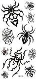 SPESTYLE wasserdicht ungiftig temporäre Tätowierung stickersWaterproof schwarz temporäre Tattoos Spinnennetz Spinne