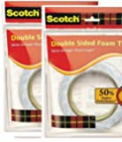3M Double Sided Foam Type Tape (12 mm x 3 m) -Pack of 2