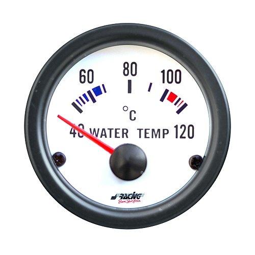 Simoni Racing Spa WT/W Électrique Jauge de Température de l'eau avec Capteurs, Blanc, Background
