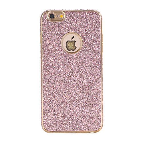 iPhone 6 Plus / 6S Plus Hülle, WindTeco Weich TPU Silikon Glitzer Schutzhülle Bling Handyhülle Protective Case Cover für Apple iPhone 6 Plus / 6S Plus (5,5 Zoll), Rosegold