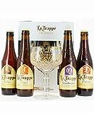 Coffret La Trappe (4 bières + 1 verre) la blonde, la dubble, la triple et la quadruple !