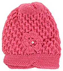 Womens Winter Woolen Cap (pink)