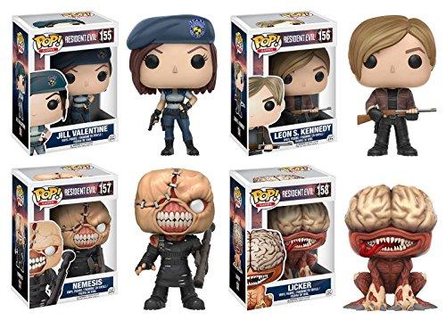 Funko Pop Pack 4 figuras (Resident Evil) Funko Pop Resident Evil