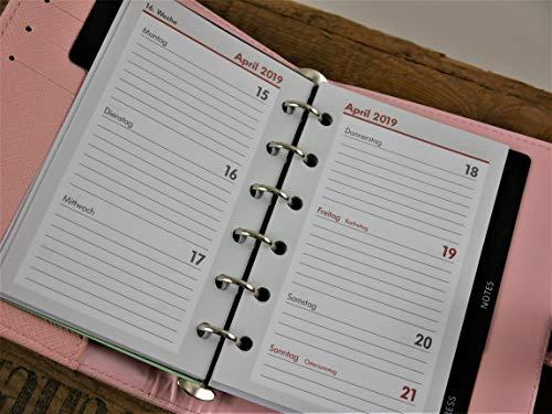Kalendereinlagen (Designer-Einlagen) - Ersatzeinlagen 2019 für Timer/Kalender/Organizer, A7, 1 Woche= 2 Seiten, Nachfüll-Inlays