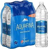 Aquafina Bottled Drinking Water, 1.5 Liters, 5+1 Pack
