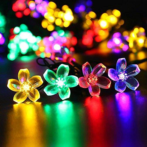 VersionTech Solar-LED-Weihnachtslichter Schnur für Saison Dekorative Weihnachten Urlaub, Hochzeit, Parteien (30w Leds, 21 ft, bunte Lichter)