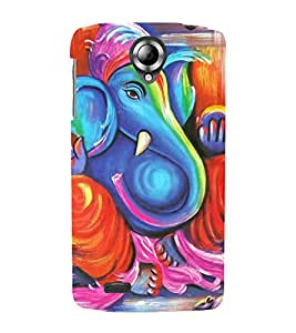 Vizagbeats ganesh color paint Back Case Cover for Lenovo 820