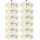 Dolity 144x Mini Fiori Rosa Artificiale Decorazione per Nozze, Festa, Cerimonia Nuziale - Avorio