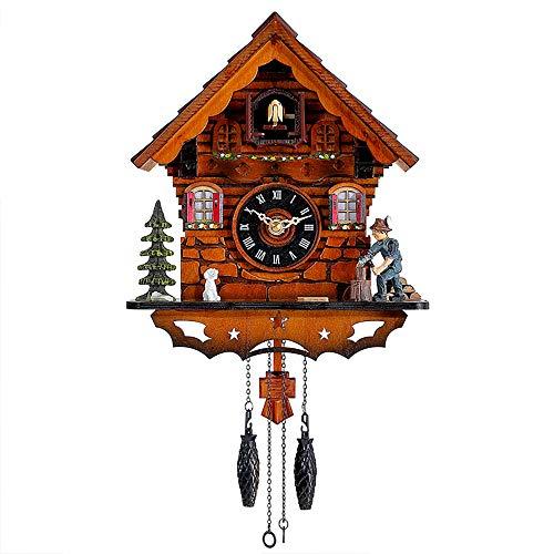 """Todos los productos de nuestra tienda """"Kintrot. """"vienen con 1 año de garantía de fabricación. Introducción a la operación de reloj de cuco Cuando el minuto apunta a las 12, el cuco llama con eco y vuela fuera, Los anillos de música Especificaciones d..."""