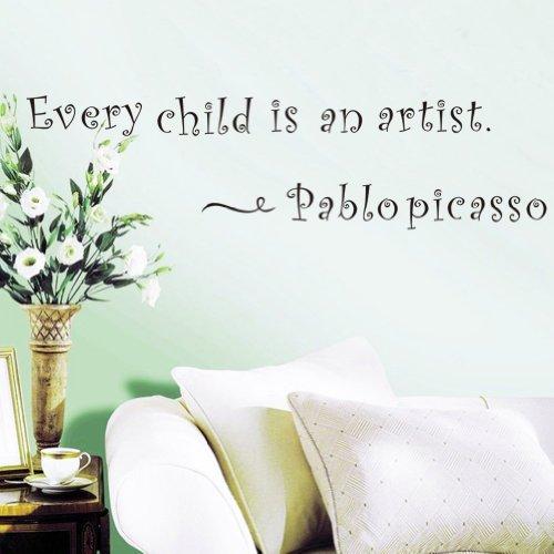 PeiTrade jedes Kind ist ein Künstler Wandaufkleber Kunst Abziehbild Haus Zimmer Dekor Büro Wand Wand Tapete Kunst Aufkleber Aufkleber Papier Wandbild für Haus Schlafzimmer Alice Im Wunderland-schlafzimmer-set