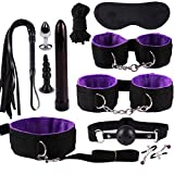 Baiomawzh Sex Toys 9 PCS Anale in Pelle con Pezzi Plugs anale Whip Mask Maschera Hollow Ball Nipple Clamps Vibratore Anello Cazzo Clistere Sfera Vaginale Capezzolo Anello Genere Set