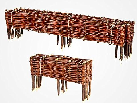 Wicker Garden Bed Border - Good Handmade Quality - Made in EU - 20 x 150 cm 10er Set