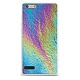 Huawei Ascend P7 mini Hülle Silikon Case Schutz Cover Regenbogen Farben Muster