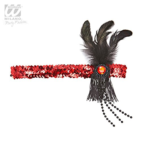 Dekoratives Stirnband 20- iger Jahre in rot - (Kostüme Fashion Red Flapper)