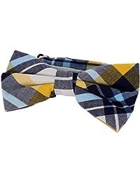 DonDon Pajarita para Hombre a cuadros corbatín latón ya atado ajustable - disponible en diferentes colores