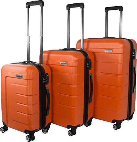 Hartschalen Kofferset New Generation mit TSA Zahlenschloss 3-tlg. Farbe Orange/Grau