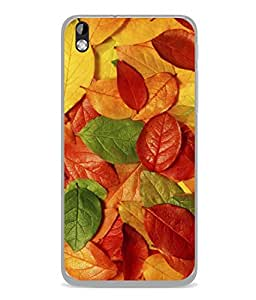 FUSON Designer Back Case Cover for HTC Desire 816 :: HTC Desire 816 Dual Sim :: HTC Desire 816G Dual Sim (Nature Colour Big Lotus Leaves Network Of Veins)