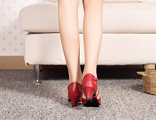 Heel Red femme 5cm de Miyoopark 4 Salle bal AU0WW6
